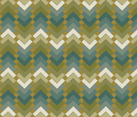 chevron squares muddy waters fabric by glimmericks on Spoonflower - custom fabric