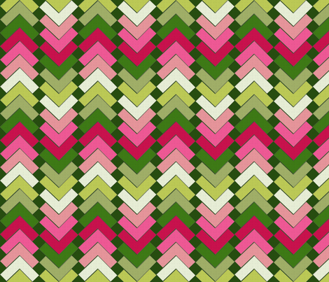 chevron squares winterberry fabric by glimmericks on Spoonflower - custom fabric