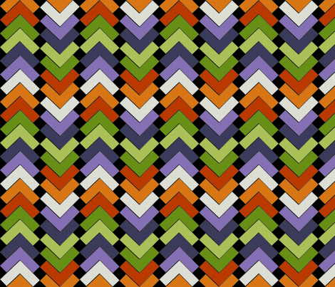 chevron squares folk dance fabric by glimmericks on Spoonflower - custom fabric
