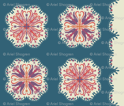 Hawaiian Quilt - teal