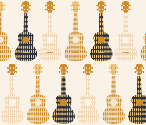 ukulele 13 fabric by owlandchickadee on Spoonflower - custom fabric