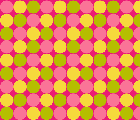 Pink Lemonade Circles fabric by mariafaithgarcia on Spoonflower - custom fabric