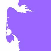 Last Unicorn White on Purple
