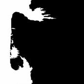 Last Unicorn White on Black