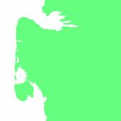 Last Unicorn White on Green