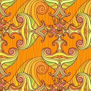 Orange waves pattern