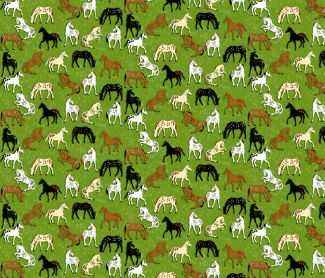 AppleLoosa Horses fabric by eclectic_house on Spoonflower - custom fabric