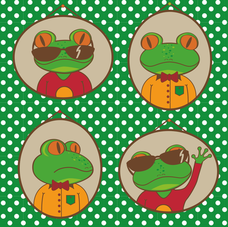 father_and_son_Frog fabric by lottelies on Spoonflower - custom fabric