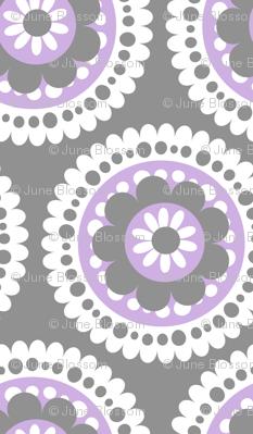large lacey floral medallion lavender