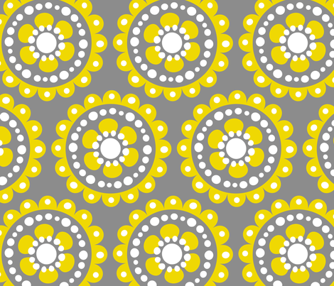 jb_flower_motif2_B_rpt fabric by juneblossom on Spoonflower - custom fabric