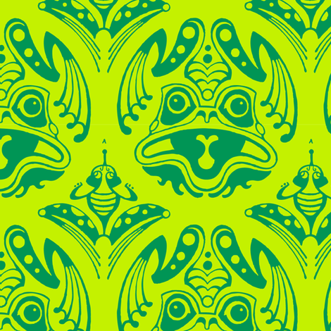 Frog Pattern fabric by lotecki_ca on Spoonflower - custom fabric