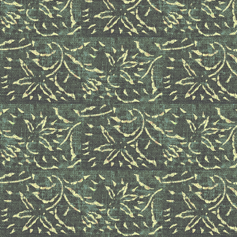 lilting lily - grey. blue fabric by materialsgirl on Spoonflower - custom fabric