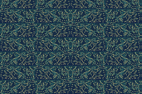 lilting lily - blue, turquoise, cream - fat quarter fabric by materialsgirl on Spoonflower - custom fabric