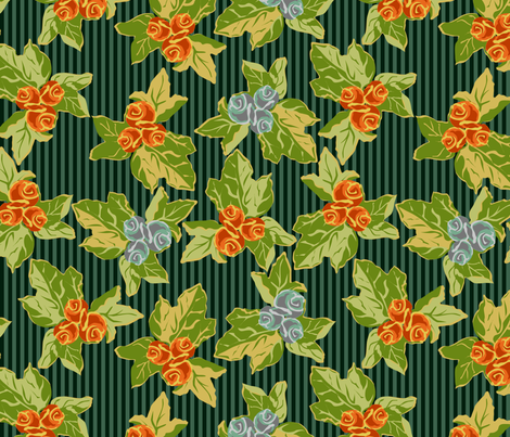 Grandma's Sofa Meets Folk Art Funk fabric by glimmericks on Spoonflower - custom fabric