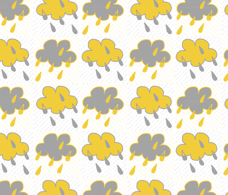Sunshine Rain fabric by crimsonpear on Spoonflower - custom fabric