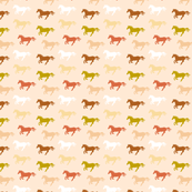 Field of Ponies in Harvest Colors