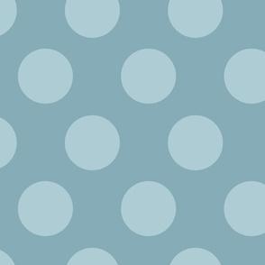 jumbo polka dots tonal blue