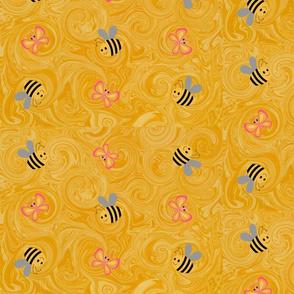 Bummble bees & butterflies