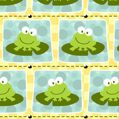 Froggies fabric by jennifer_clarke_designs on Spoonflower - custom fabric