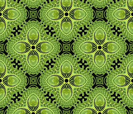 The Green Corset companion fabric fabric by whimzwhirled on Spoonflower - custom fabric