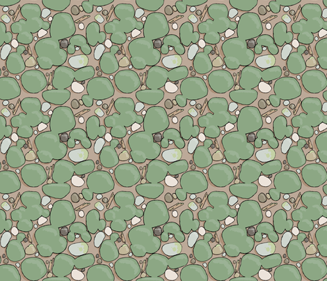 mossy morning fabric by doodleandhoob on Spoonflower - custom fabric