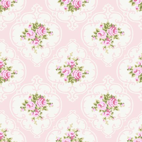 Pink Cameo Roses fabric by parisbebe on Spoonflower - custom fabric