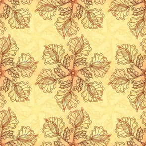 Ornate foliage pattern