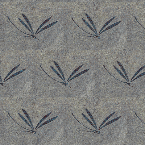 dragonfly in stone - stone grey fabric by materialsgirl on Spoonflower - custom fabric