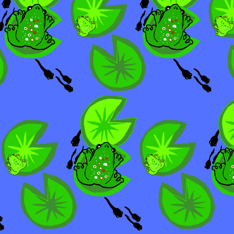 Frog Pond fabric by pennydog on Spoonflower - custom fabric