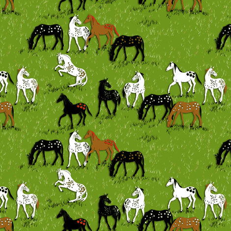 AppleLoosa Horses 2 fabric by eclectic_house on Spoonflower - custom fabric