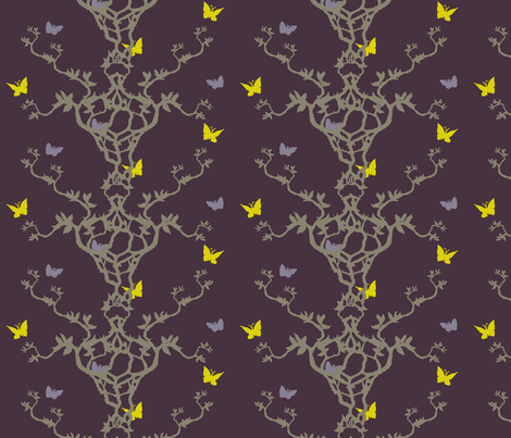 Butterfly Garden fabric by ricerafferty on Spoonflower - custom fabric