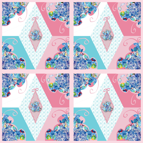 A Painted Patchwork Block fabric by karenharveycox on Spoonflower - custom fabric