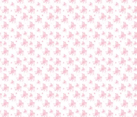 A PInk Shabby Chic frog fabric by karenharveycox on Spoonflower - custom fabric
