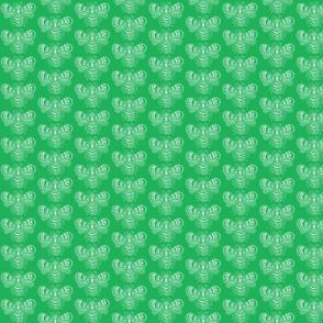 BeeHappy - sm - dark green reverse