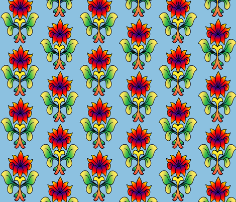 Bright_Floral_1 fabric by trishadstudio on Spoonflower - custom fabric