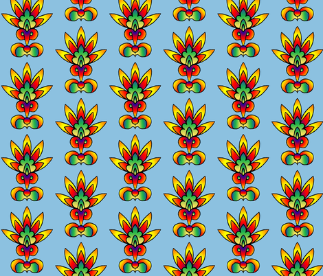 Bright_Floral_2 fabric by trishadstudio on Spoonflower - custom fabric