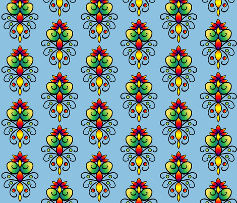Bright_Floral_4 fabric by trishadstudio on Spoonflower - custom fabric