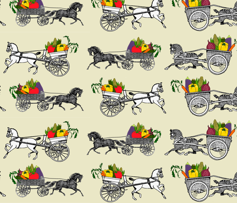 Off to market! fabric by ragan on Spoonflower - custom fabric