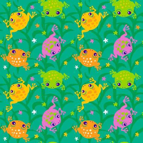 Squishy Frogs fabric by jillianmorris on Spoonflower - custom fabric