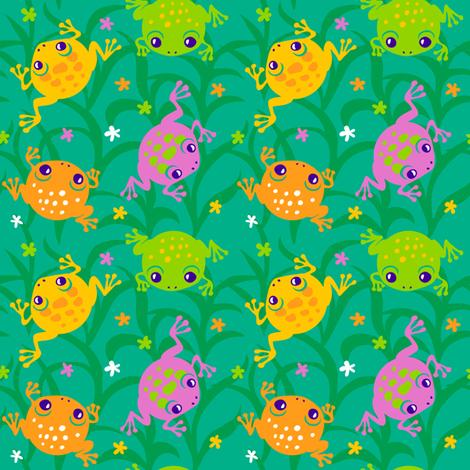 Squishy Frogs fabric by jillianmorris on Spoonflower - custom fabric