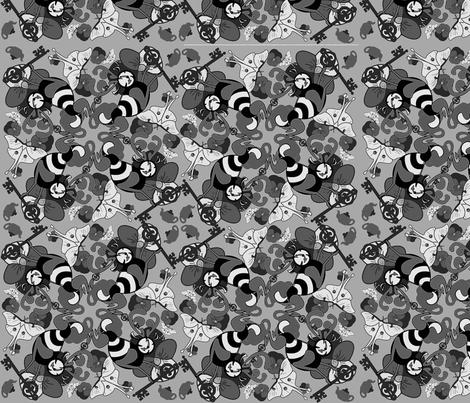 testpatternblackwhite fabric by craftyscientists on Spoonflower - custom fabric