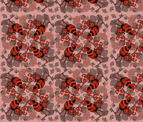 testpatternred fabric by craftyscientists on Spoonflower - custom fabric