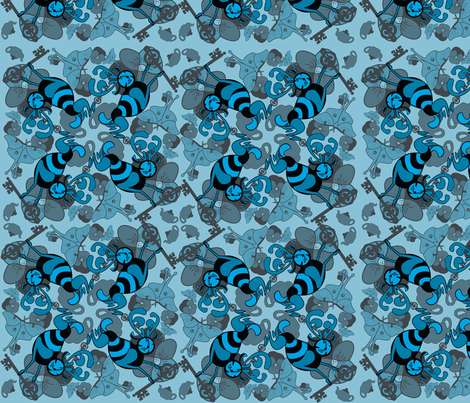 testpatternblueone fabric by craftyscientists on Spoonflower - custom fabric