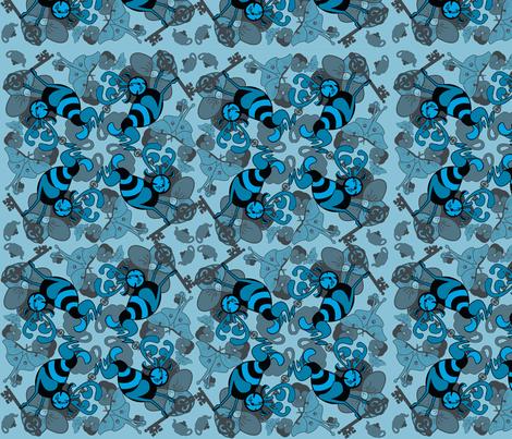 testpatternblueone fabric by craftyscientists on Spoonflower - custom fabric