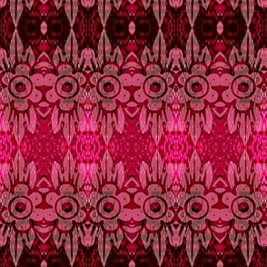 misty pink flower batik motif 4