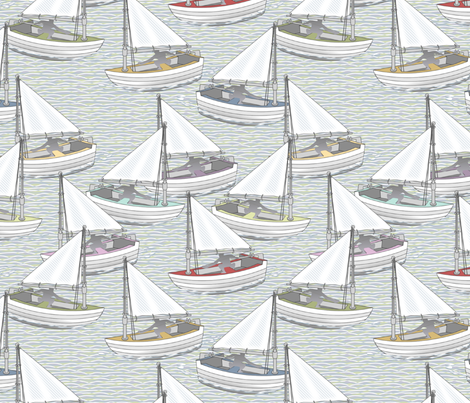 Sailing fabric by glimmericks on Spoonflower - custom fabric