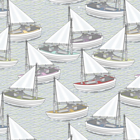 Sailing Mini fabric by glimmericks on Spoonflower - custom fabric