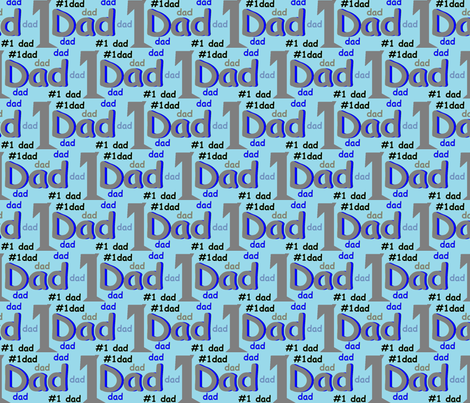 No_1Dad fabric by joralisa on Spoonflower - custom fabric