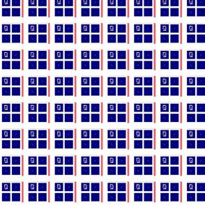 Modern Blue Square Gingham