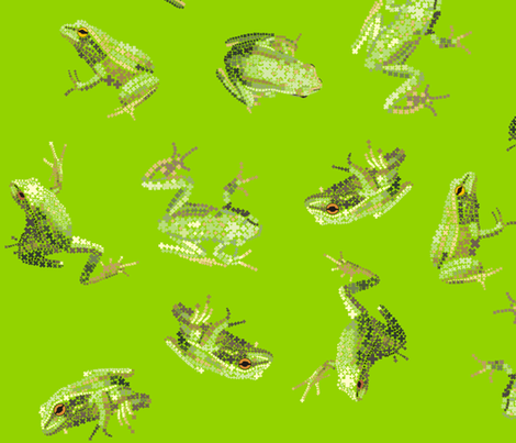 Bejewelled Froggy Fancy fabric by smuk on Spoonflower - custom fabric